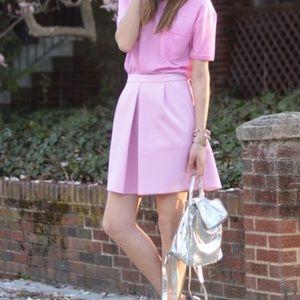 J.Crew light pink pleat front mini skirt